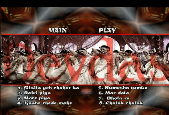 Devdas DVD song menu