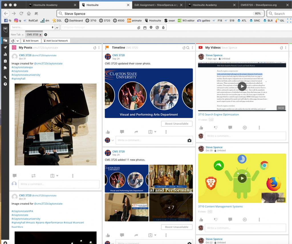 Hootsuite streams example image